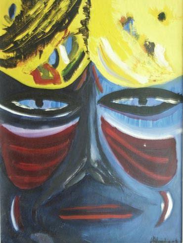 Autoritratto - Olio su tela 30cm x 40cm 2003