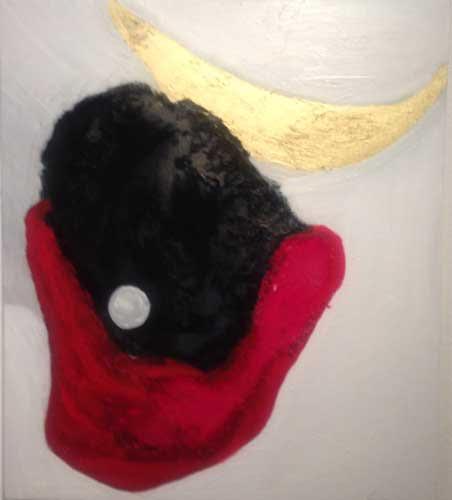 VENDUTO - Notte - Olio e pigmenti su tela 60cm x 70cm 2013