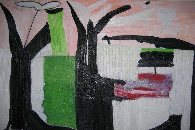 Bosco - Olio e altri materiali su tela 120cm x 80cm 2008
