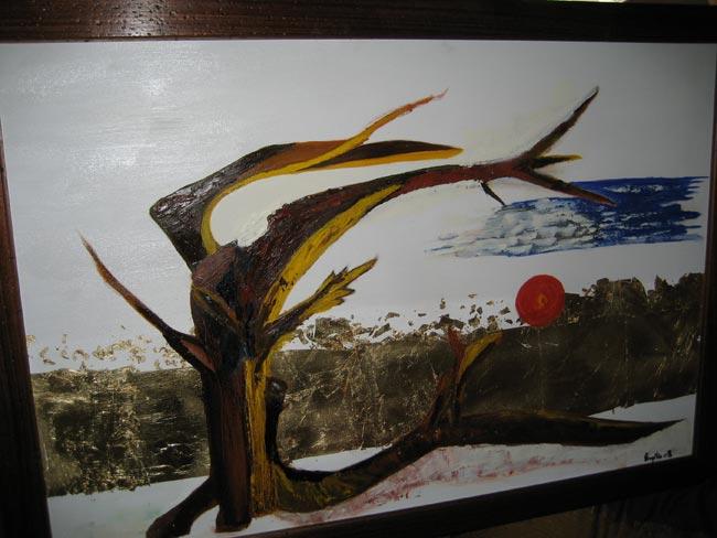 Vento - Olio e altri materiali su tela 70cm x 60cm 2008