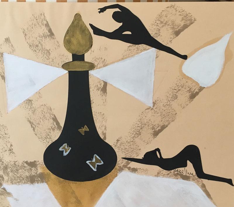 Liberi - Disegni su carta 35x55 carboncino olio acrilico