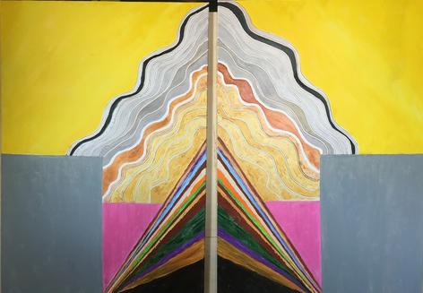 Mother Earth olio su tela 150x100