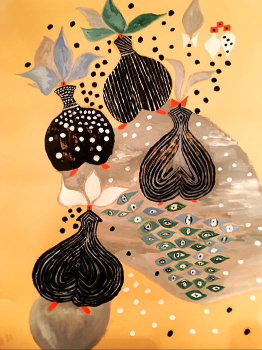 Cool - Olio su carta 50x70 - Montata su tela