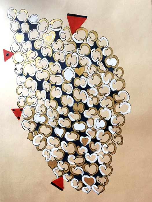 Halfmoon - Olio su carta 35x50 - Montata su tela di lino
