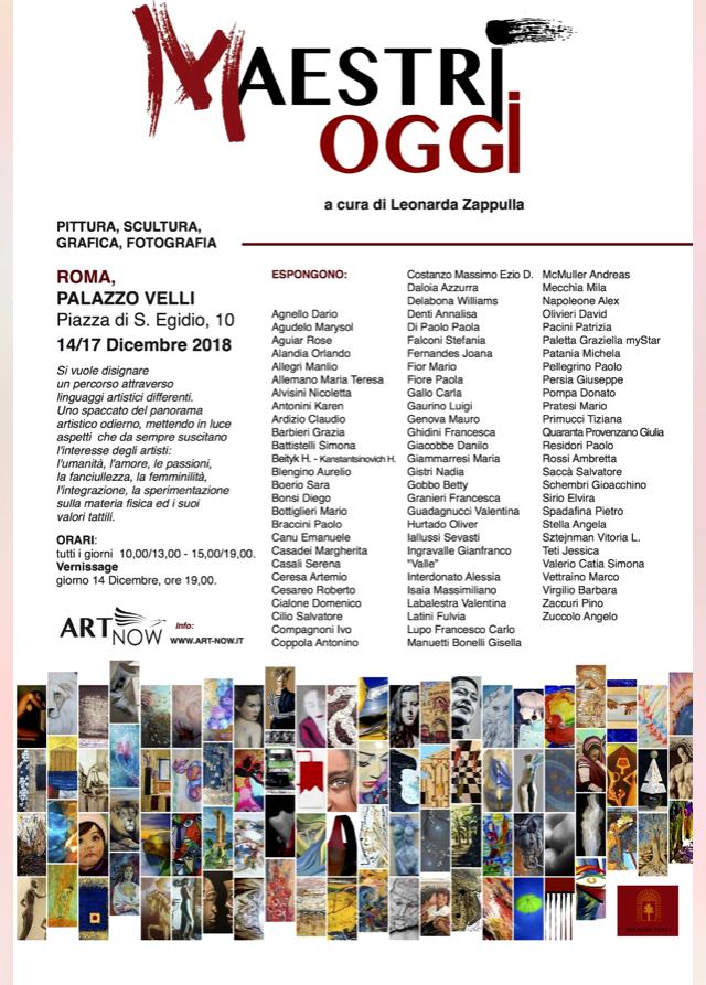 Maestri Oggi - 14-17 Dicembre 2018 - Barbara Virgilio