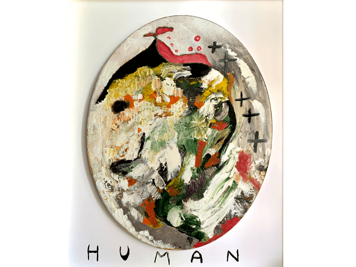 Evoluzione umana - Olio su tela - 50x40